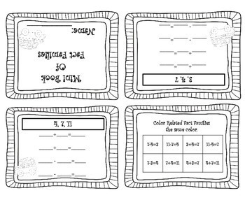 Fact Family Worksheets 1st Grade | Fact Families Addition Subtraction