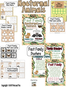 Fact Family Addition Subtraction Math Envision MAFS  Common Core Games
