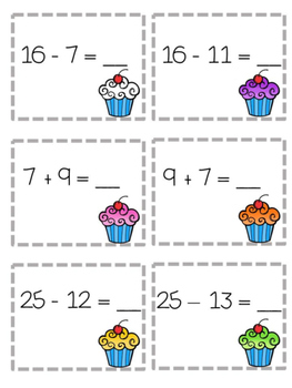 Fact Family Addition and Subtraction Math Game