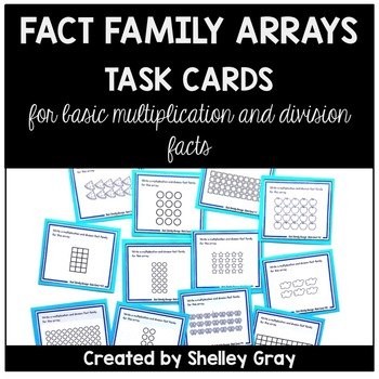 Fact Family Array Task Cards: Multiplication and Division with Arrays