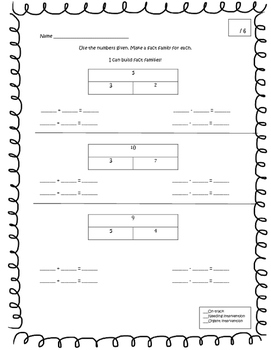 Fact Family - Assessment - Common Core - addition - subtraction