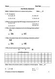 Fact Family Assessment - Multiplication Division 3.OA.4  3.OA.6