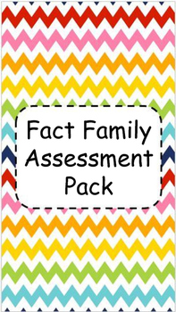 Fact Family Assessment Pack