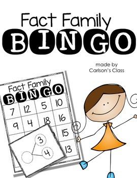 Fact Family BINGO
