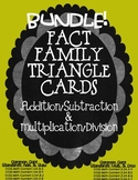 Fact Family BUNDLE Triangle Cards ~ Multi/Div & Add/Sub Common Core