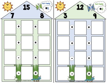 Fact Family BUNDLE using Addition and Subtraction