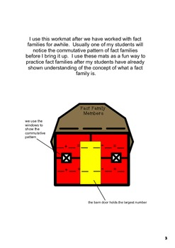 Fact Family Barn Organizer...PDF version