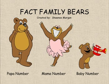 Fact Family Bear Family Posters