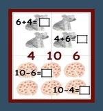 Math Fact Family - Puzzles & Wipe Off Pagefor Addition and Subtraction Sums 2-10