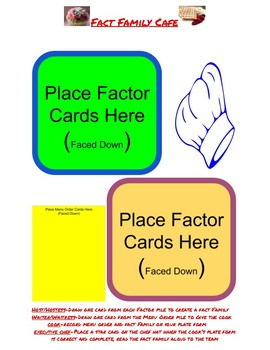 Fact Family Cafe - Multiplication and Division