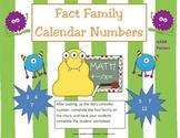 Fact Family Calendar Pieces- Number Set