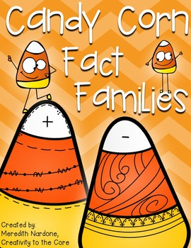 Fact Family Candy Corns - Addition/Subtractio