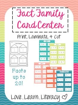 Fact Family Card Center