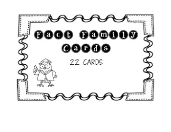 Fact Family Cards
