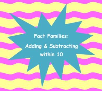 Fact Family Center Activity - Common Core K, 1, 2