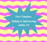 Fact Family Center Activity - Common Core K, 1, 2