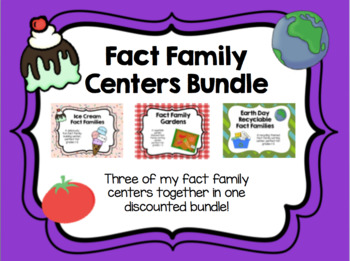 Fact Family Center Bundle