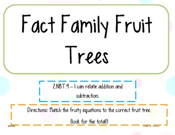 Fact Family Center Pack 2.NBT.9, OA.1