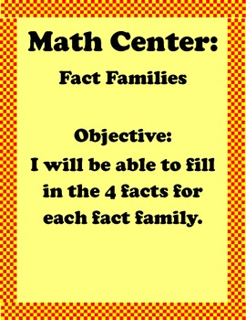 Fact Family Center