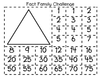Fact Family Challenge
