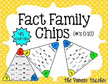 Fact Family Chips (Numbers 0-10)
