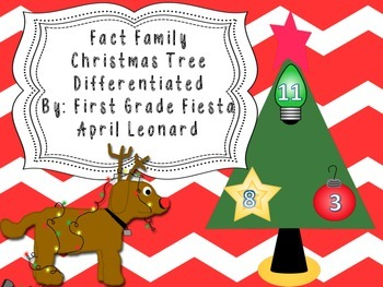 Fact Family Christmas Differentiated Center