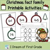 Fact Family Christmas Ornament Task Cards