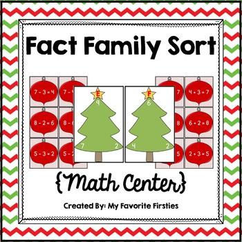 Fact Family Center {Christmas Edition}