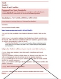 Fact Family Common Core Differentiated Lesson plan  EDITABLE