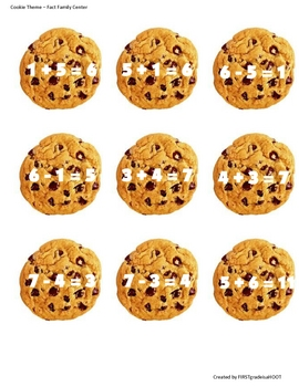 Fact Family Cookies