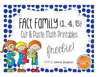 Fact Family Cut & Paste Freebie