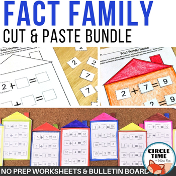 Fact Family Worksheets BUNDLE!