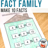 Make 10 with Fact Family Cut and Paste Worksheet