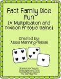 Fact Family Dice Game {Multiplication and Division Freebie}