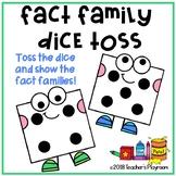 Fact Family Dice Toss Math Center