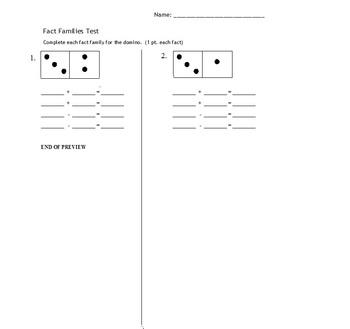 Fact Family Domino Test