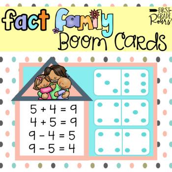 Fact Family Dominoes Digital Task BOOM CARDS