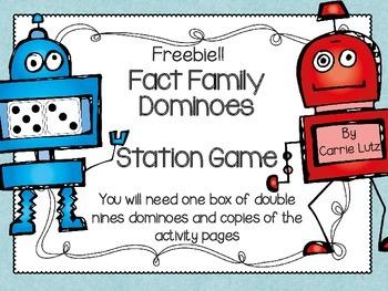 Fact Family Dominoes Freebie
