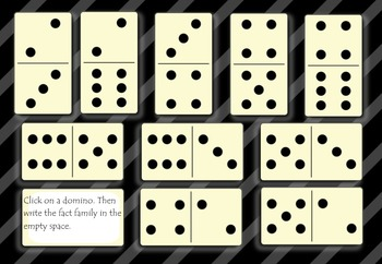 Fact Family Dominos Primary Smart Board Lesson