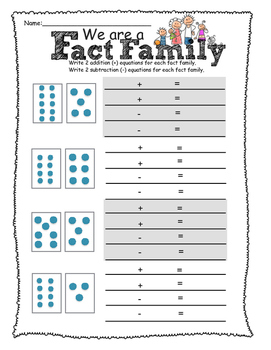 Fact Family Dot Cards Assessment-Grade 1 (plus and minus scaffold)