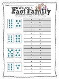 Fact Family Dot Cards Assessment-Grade 1 (plus and minus s