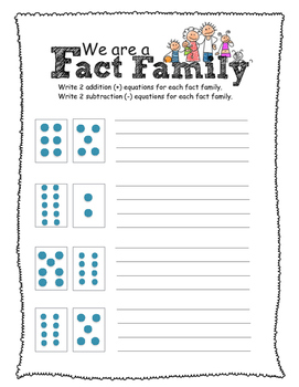 Fact Family Dot Cards Assessment -Grade 1 (plus and minus scaffold)
