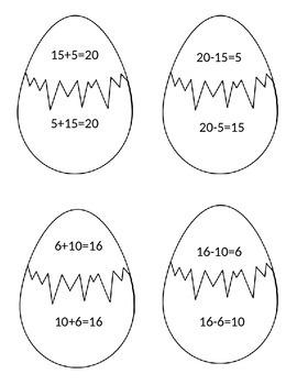 Fact Family Eggs