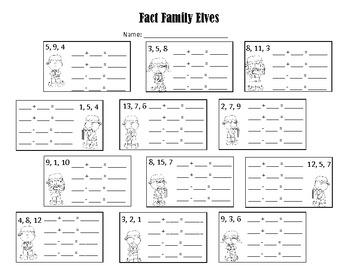 Fact Family Elf Fun