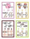 Math Fact Family Erasable Mini-Book Cards and Puzzles for