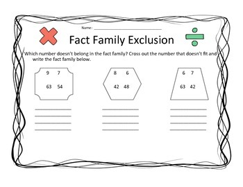 Fact Family Exclusion