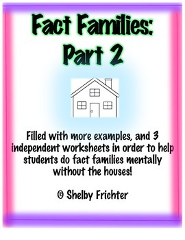 Fact Family - Fact Families Part 2 with Addition and Subtraction