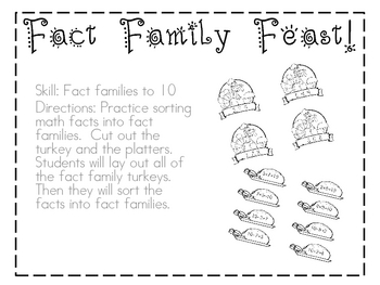 Fact Family Feast!