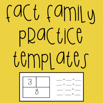 Fact Family Fill In the Blank