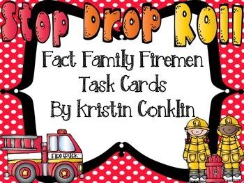 Fact Family Firemen Task Cards